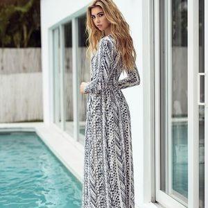 Pashmina maxi dress, size XS